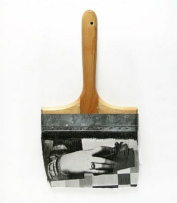 "GARY EMRICH, LEGERDEMAIN #8 ""SLIIGHT OF HAND"" photoemulsion on paintbrush"