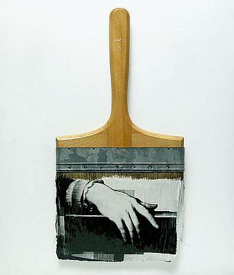 "GARY EMRICH, LEGERDEMAIN #9 ""SLIIGHT OF HAND"" photoemulsion on paintbrush"