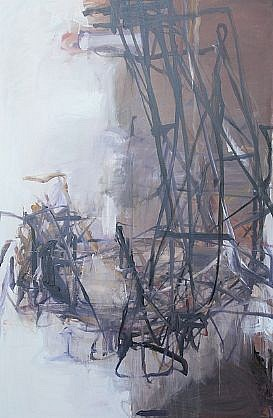 TOM LIEBER, BLACK/WHITE REACH I oil on canvas