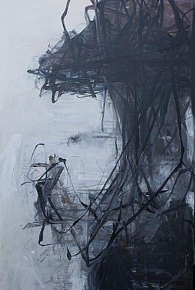 TOM LIEBER, BLACK/WHITE REACH II oil on canvas