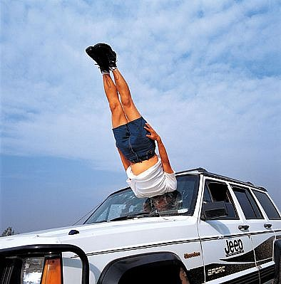 LI WEI, LI WEI FALLS TO THE CAR ED 10 C-print