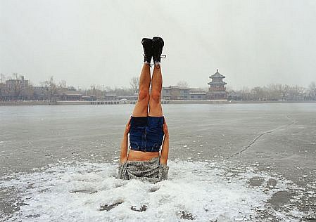 LI WEI, LI WEI FALLS TO THE ICE HOLE ED 10 C-print