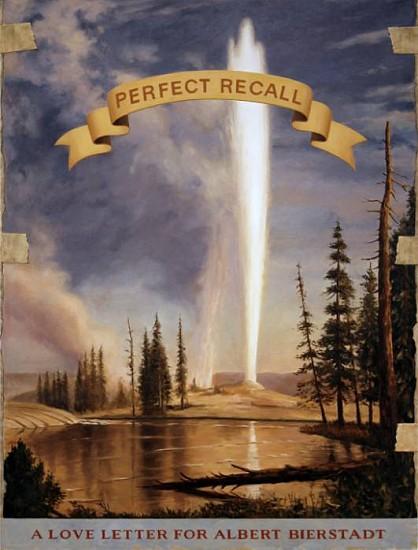 JERRY KUNKEL, LOVE LETTER (ALBERT BIERSTADT) oil on canvas