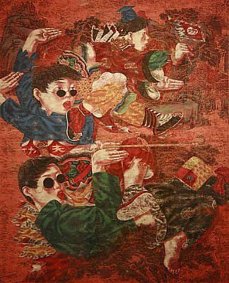LU PENG, KUNG FU- FISH SERIES watercolor