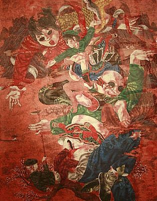 LU PENG, KUNG FU - FISH SERIES watercolor