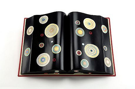 TERRY MAKER, BLACK JAWBREAKER BOOK resin and mixed media