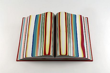 TERRY MAKER, STRIPED BOOK resin and mixed media