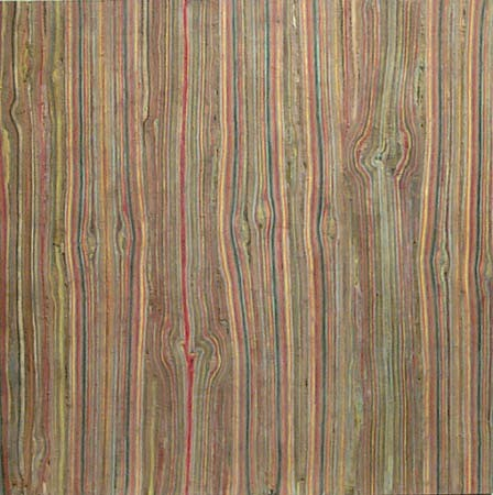 TERRY MAKER, KNOT STRIPED PAINTING acrylic, canvas, glue
