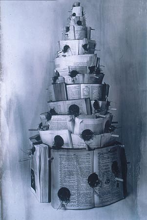 TERRY MAKER, TOWER OF BABBLE toned silverprint