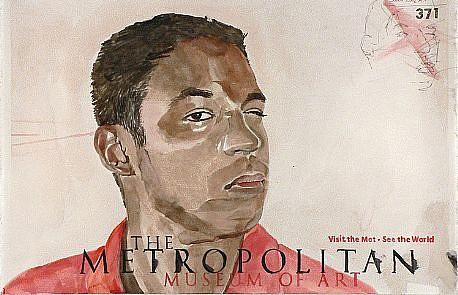 JACK BALAS, MUSE(UM): METROPOLITAN MUSEUM watercolor