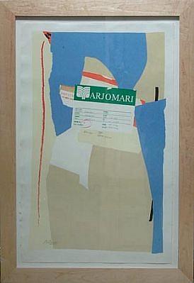 ROBERT MOTHERWELL, America-La France Variation II, AP IV/XVIII lithograph/FRD