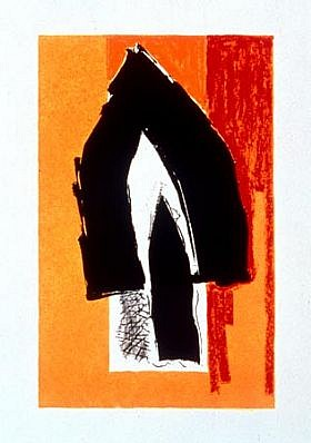 ROBERT MOTHERWELL, Black Cathedral, AP 6/14 Uncat. 445 lithograph-PORT