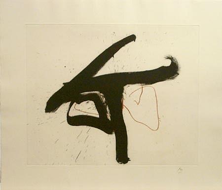 ROBERT MOTHERWELL, Lament For Lorca, 1/50 etching/FF