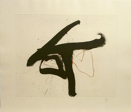 ROBERT MOTHERWELL, Lament For Lorca, 1/50 etching/FF