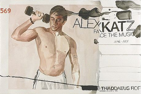 JACK BALAS, ALEX KATZ: FACE THE MUSIC watercolor