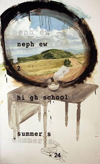 JACK BALAS, NEPHEW...SUMMERSframed oil, enamel & pencil on paper