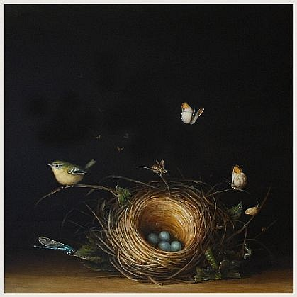 DAVID KROLL, NEST oil on panel
