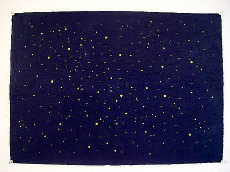 TOM NUSSBAUM, NIGHT SKY cut vegetable-dyed Yatsuo paper