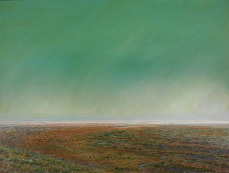PETER DI GESU, NORTH PARK oil on canvas