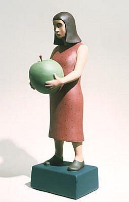 TOM NUSSBAUM, Apple Girl acrylic on resin