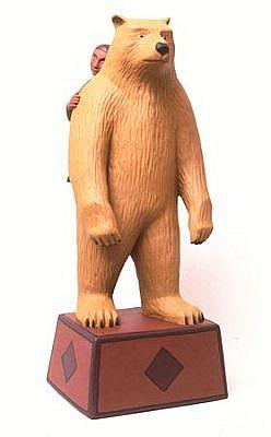 TOM NUSSBAUM, Bear / Boy acrylic on resin