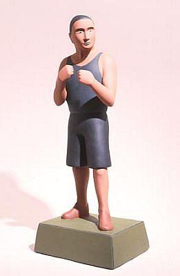 TOM NUSSBAUM, Boxer acrylic on resin