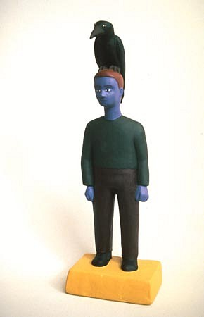 TOM NUSSBAUM, Crow / Man acrylic on resin