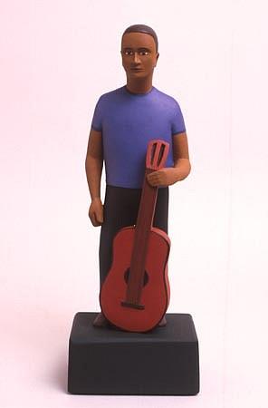 TOM NUSSBAUM, Guitar Man acrylic on resin