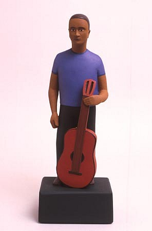 TOM NUSSBAUM, Guitar Man acrylic on resin