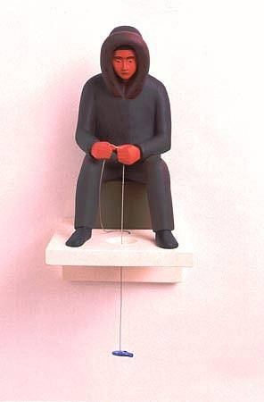 TOM NUSSBAUM, Ice Man acrylic on resin