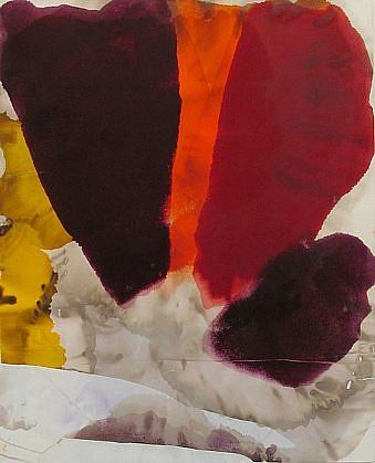 DIRK DE BRUYCKER, ORANGE STREAK asphalt, cobalt drier, gesso and oil on canvas