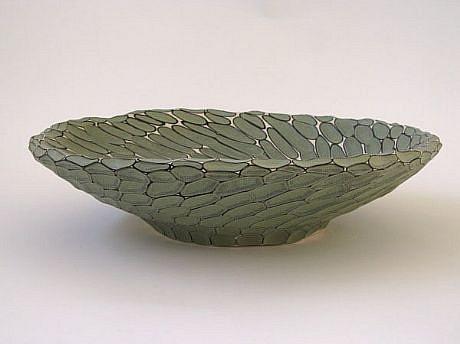 BRAD MILLER, BOWL (PORCELAIN) glazed porcelain