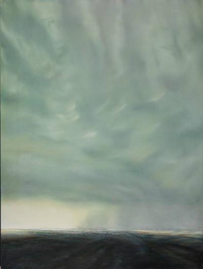 PETER DI GESU, OKLAHOMA - TEXAS STORM #1 oil on canvas