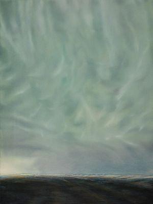 PETER DI GESU, OKLAHOMA - TEXAS STORM #2 oil on canvas