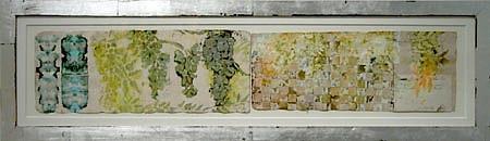 JUDY PFAFF, Gooseberry Pie oilstick & encaustic on Japanese paper