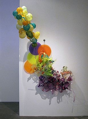 JUDY PFAFF, IT WAS HOT AND THEY DANCED steel wire, plastics, shellacked Chinese paper lanterns, and fluorescent light