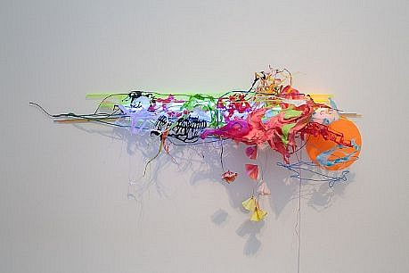 JUDY PFAFF, MY SECOND DREAM expanded foam, steel wires, plastics, and flourescent light