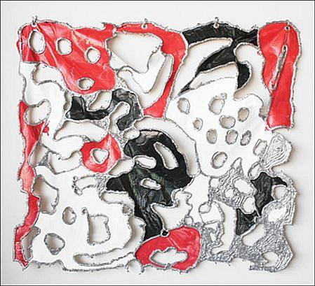 JOHN MCENROE, PIERCED PAINTING Latex Paint