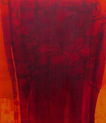 DIRK DE BRUYCKER, SALTO asphalt, cobalt drier, gesso and oil on canvas