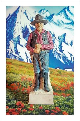 "GARY EMRICH, SHERIFF WITH ICE MOUNTAIN SPRING WATER ""Firewater""  Ed. 5 pigment print"