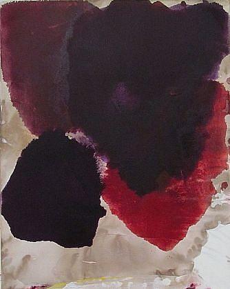 DIRK DE BRUYCKER, SMALL CASSIUS BLUE I asphalt, cobalt drier, gesso and oil on canvas
