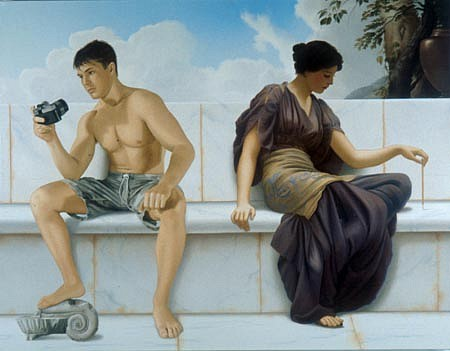 WES HEMPEL, Narcissus and Echo oil on canvas