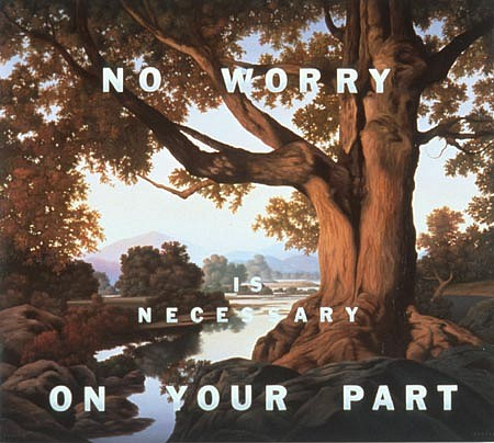 WES HEMPEL, No Worry Is Necessary On Your Part oil on canvas
