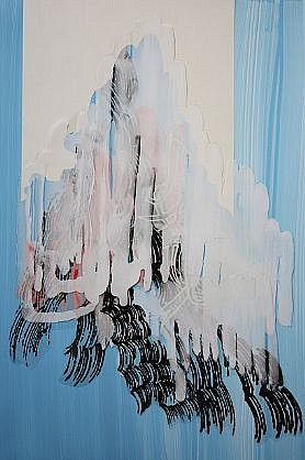 KATY STONE, GHOST FLOOD acrylic on Duralar and paper collage