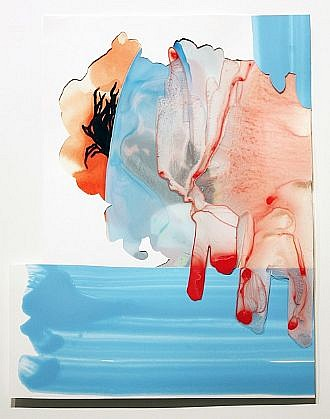 KATY STONE, SAN JUAN acrylic on Duralar and paper collage