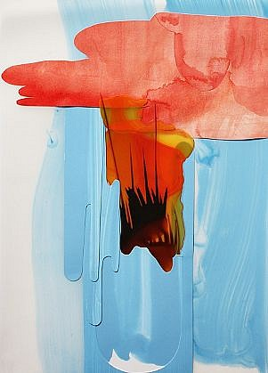 KATY STONE, SPARROW'S FALL acrylic on Duralar and paper collage
