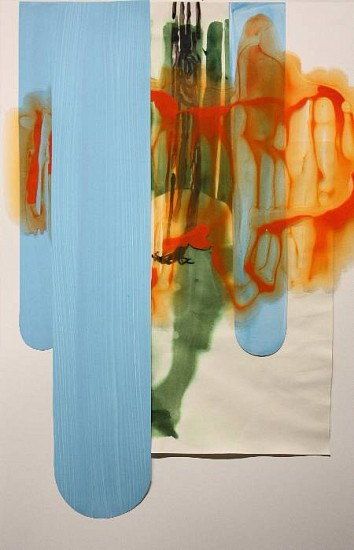 KATY STONE, TWENTY FIRST SEPTEMBER acrylic on Duralar and paper collage