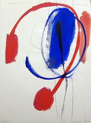 DALE CHISMAN ESTATE, STUDY 7 (NYC) acrylic on paper with graphite