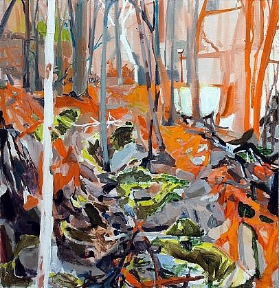 ALLISON GILDERSLEEVE, THE GULLY BEHIND oil and alkyd on canvas