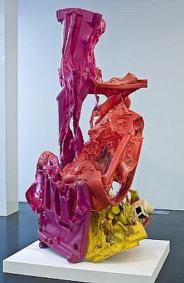 JOHN MCENROE, UNTITLED (PINK, YELLOW) Plastic